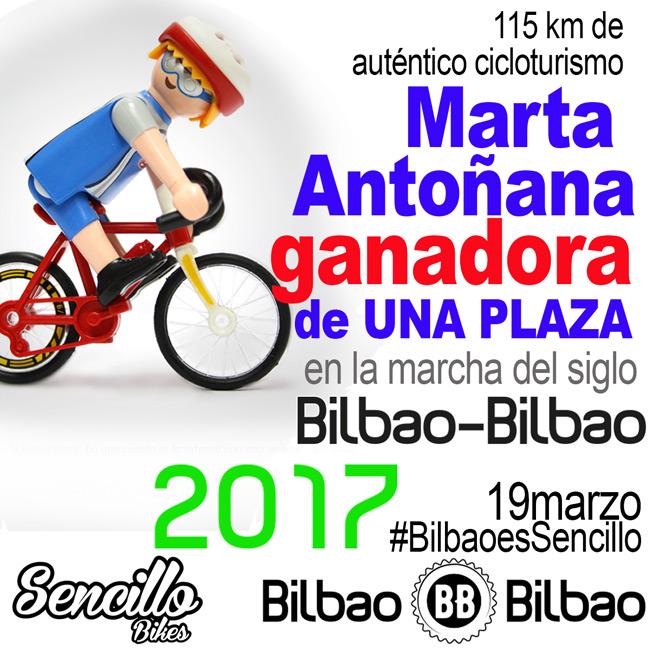 SencilloBikes ganadora cicloturista Bilbao 2017 2