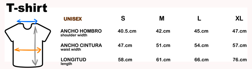 Camiseta sencillo bikes tallas y medidas