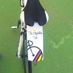 La bicicleta café guardabarros maillot noir