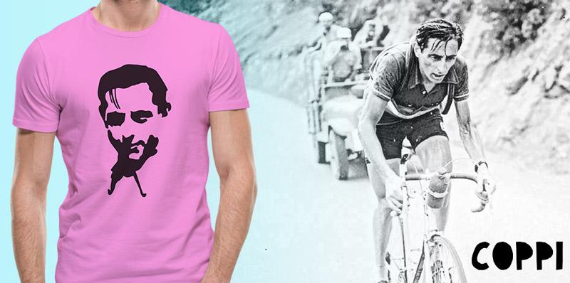 Fausto Coppi tshirt tribute